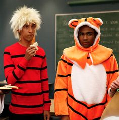 Community + Calvin & Hobbes - Troy and Abed in the Morning! Community is rapidly becoming my favourite show (with more than nine episodes) Community Tv Show, Community Memes, Donald Glover, Childish Gambino, Calvin And Hobbes, Looks Cool, Best Shows Ever, Best Tv, Troy
