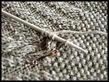 Knitting Tips - How to Knit I-Cord Onto a Sweater / Applied I-Cord - Chic Knits Knitting Patterns designed by Bonne Marie Burns