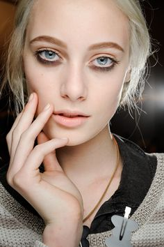 Backstage at Marc Jacobs by Francois Nars.  Woah!  The things they can do with make-up these days...