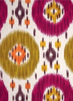 Duvall Ikat Fiesta - Charleston Home - Richloom fabric, Heavy cotton slubby basket big and bold ikat print. Perfect for upholstery, pillow covers, headboards or drapery panels. Textile Pattern Design, Ikat Pattern, Fabric Design, Design Patterns, Ikat Fabric, Drapery Fabric, Wall Fabric, Drapery Panels, Cotton Fabric