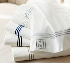 Grand 280-Thread-Count Embroidered Sheet Set | Pottery Barn