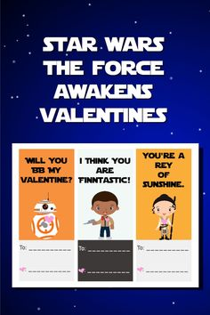star wars the force awakens valentines - free download