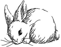 Bunny embroidery template.  This is on my to-do list after I've finished projects currently on the go.