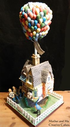 Gravity defying Up Cake - Cake by Mother and Me Creative Cakes