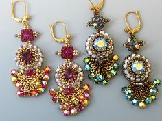 Bead Show: Bead Show Workshops & Classes: Friday May 31, 2013: B131732 Bell of the Ball Earrings