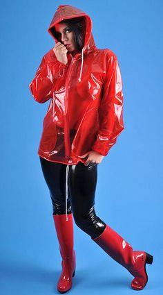 Red JuJu heeled wellies (2) | par Freya loves high heel rubber boots & wellies