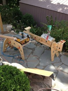 Three-Legged Sawhorse Design - by basswood @ LumberJocks.com ~ woodworking community
