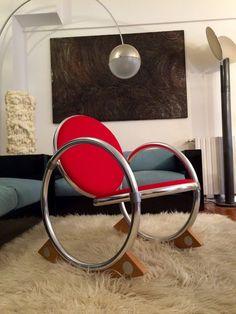 Verner Panton Dondolo Rocking Chair Space Age Mid Century Eames Era Design 70s #Ycami
