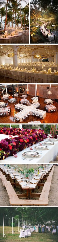 unique wedding table setups Setting Up Your Reception Tables Creatively