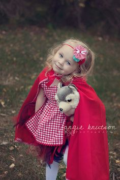 Everything that a Big Bad Wolf Could Want headband- Little Red Riding Hood by Birdie Baby Boutique