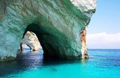 The Blue Caves – located in Zakynthos islands in the Ionian Sea in Greece. Actually, it is the second most visited isle apart from Corfu. The lands in Zakynthos Beautiful Places In The World, Places Around The World, Oh The Places You'll Go, Places To Travel, Places To Visit, Around The Worlds, Amazing Places, Wonderful Places, Travel Pics