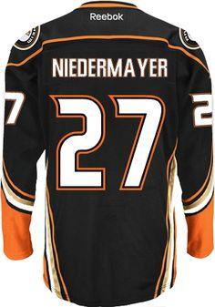 Anaheim Ducks VINTAGE Scott NIEDERMAYER #27 *C* Official Home Reebok Premier Replica NHL Hockey Jersey (HAND SEWN CUSTOMIZATION)