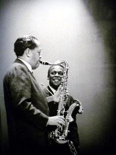 Lester Young and Miles Davis