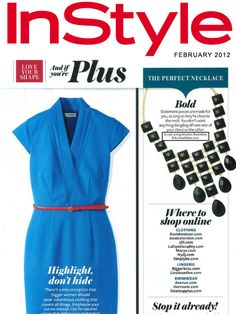 Have a look at our Cleopatra Cascade Necklace, featured in the February 2012 issue of InStyle Magazine!