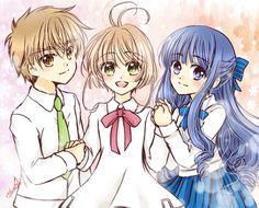 Zakura, Shaoran y Tomoyo.