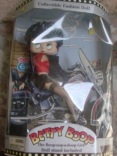 Vintage Biker Betty boop doll with Black by PatsapearlsBoutique, $45.99