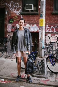 Alana Bunte by William Yan #leather #sneakers