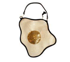 Glitter Fried Egg Clutch Handbag by LunaontheMoon on Etsy, £60.00