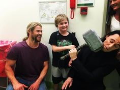 And visited the real heroes at Lady Cilento Children's Hospital. | 29 Times Chris Hemsworth Totally Nailed Social Media In 2016