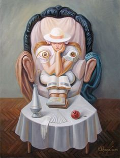 A Face Of A Man./or  A Woman Sits On A Chair.----Painting Illusions (1)