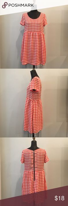 red check babydoll dress Red check babydoll dress by Glamorous. Contrast zipper back that is functional. Dress is woven and does not have stretch. glamorous  Dresses Mini