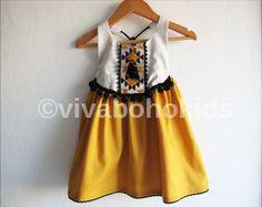 Baby Girl Tribal Dress/ Boho Chic Dress/ Baby by VivaBohoKids