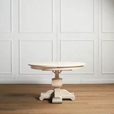 Round Pedestal Tables, White Round Tables, Teak Table, Dining Room Table, Dining Chairs, Dining Furniture, Fine Furniture, Expandable Round Dining Table, Aluminum Table