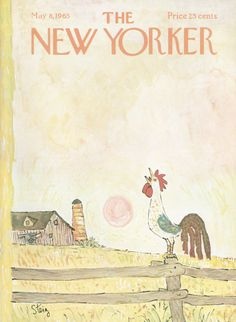 William Steig : Cover art for The New Yorker 2099 - 8 May 1965