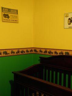 Gage's john deere room :)