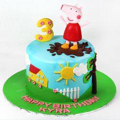 Peppa pig 3rd birthday themed cake  #celejor #celejorcakes #celejorcakeshop #customised #peppapig #peppapigcake #peppacakes #peppapigtheme #kidscake #3dcakes#3rdbirthdaycake #chocolatecake #fondantcake #birthdaycakes #themedcakes #designercakes #cakeart #cakes #mumbaicakes #mumbaifoodie #instafood #instagood #foodie #dessert #foodfun #love #mumbai