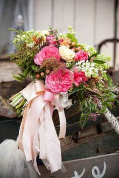 Florabundance Inspirational Design Days The Bride holds a pink, green and white bouquet. Spring Wedding Flowers, Wedding Bouquets, Wholesale Florist, Floral Supplies, The Perfect Touch, Fresh Flowers, Wedding Designs, Event Planning, Floral Design