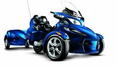 The Spyder motorcycle is a thing of beauty. With the matching trailer, it is ready for cruising long distance.