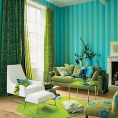 turquoise and orange decor | Turquoise Decorating Ideas | Images of Turquoise Rooms With Coral ...