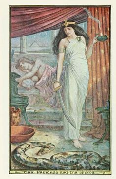 The brown fairy book (c1904)illustrations by Henry Justice Ford,   The Princess and the Snake