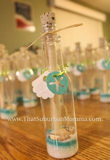 Under the Sea/ Mermaid Birthday Party. Message in a bottle invitation.