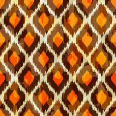 Illustration about Modern ikat tribal seamless pattern for web design or home decor, fashion illustration of retro style. Illustration of backdrop, jungle, abstract - 33648243 Pattern Design Drawing, Textile Pattern Design, Ikat Pattern, Textile Patterns, Fabric Design, Print Design, Web Design, Orange Wallpaper, Print Wallpaper