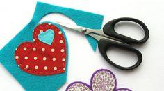 Scissors cutting out colourful felt | Fabric and felt brooches | Tesco Living