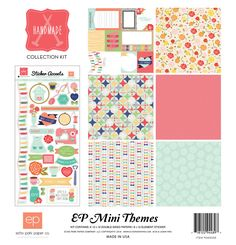 Echo Park Handmade 12x12 Scrapbook Collection Kit Pocket Scrapbooking Journal Cards Stickers Sewing Machine DIY Craft Room Knitting Quilt by InkyHotMess on Etsy