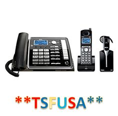 Corded Cordless Phone Combos: Rca 25270Re3 Visys 2 Line Corded Cordless Combo With Headset Phone Set Office -> BUY IT NOW ONLY: $149.99 on eBay!