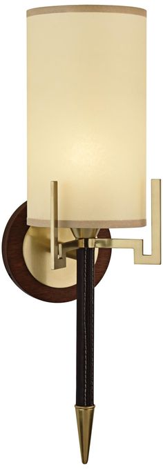 Robert Abbey Emile Brass and Chocolate Wall Sconce | LampsPlus.com