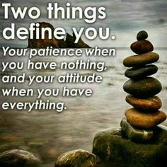 @behjoosharia  دوتا چيز #شخصيتت رو تعريف ميكنه  #صبرت وقتی چيزی نداری! و #رفتارت وقتی همه چيز داری!