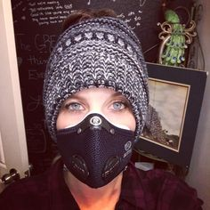 Got my new #respro air filter mask from the UK today. My #vogmask was great for awhile - but I couldn't breathe well with it. This one is… Uk Today, Safety Mask, Diy Face Mask, Face Masks, Fabric Markers, Air Filter, Breathe, Filters, Wellness