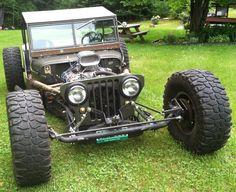1947 Willys CJ2A Rat Rod  #ratrod #oogahorn #willys #jeep #willysjeep #mudtires…