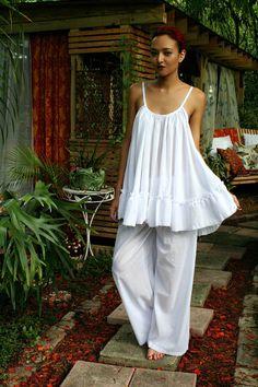 b90f3308b4b Cotton Baby Doll Pajama Set Nightgown Lingerie от SarafinaDreams Baby Doll  Pajamas