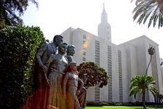 LDS MORMON TEMPLE in Los Angeles, California.