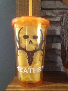 Bone Collector Plastic Tumbler by SemeijnDesign on Etsy, $10.95