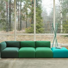 BLOB by Helene Tiedemann - Divano modulare / moderno / in tessuto / 4 posti by Jonas Ihreborn Modular Lounges, Modular Sofa, Divani Design, Types Of Rooms, Soft Seating, Global Design, Contemporary Interior Design, Furniture Inspiration, Interiores Design