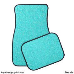 Aqua Design Car Floor Mat Car Mats, Car Floor Mats, Keep It Cleaner, Holiday Cards, Aqua, Flooring, Gifts, Design, Home Decor