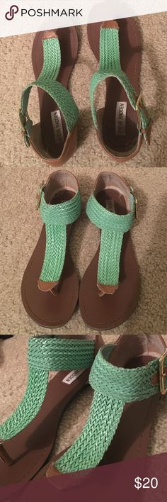Teal sandals Steve Madden Teal sandals Steve Madden 8.5 worn Steve Madden Shoes Sandals
