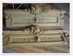 Relics, Sculpture, Motifs for the Home : Salvaged Door Pediments -Read More – Architectural Antiques, Architectural Elements, Black Dog Salvage, French Cottage, Country French, House Trim, Hearth And Home, Trash To Treasure, Beautiful Bedrooms
